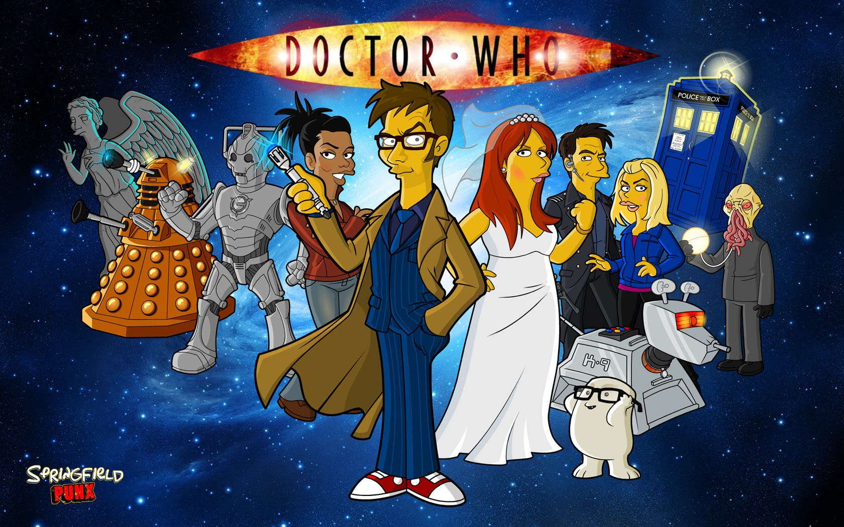 Doctor Who David Tennant Springfield Punx