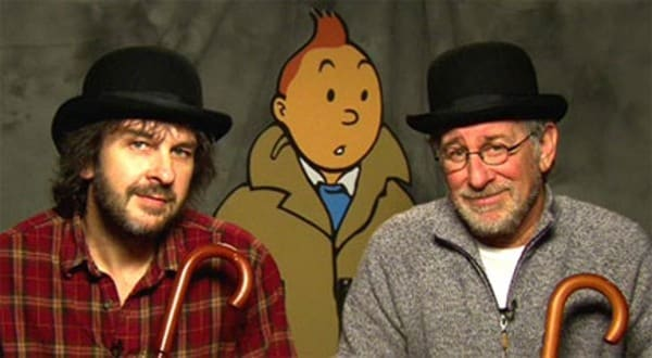 Steven Spielberg y peter Jackson Tintin