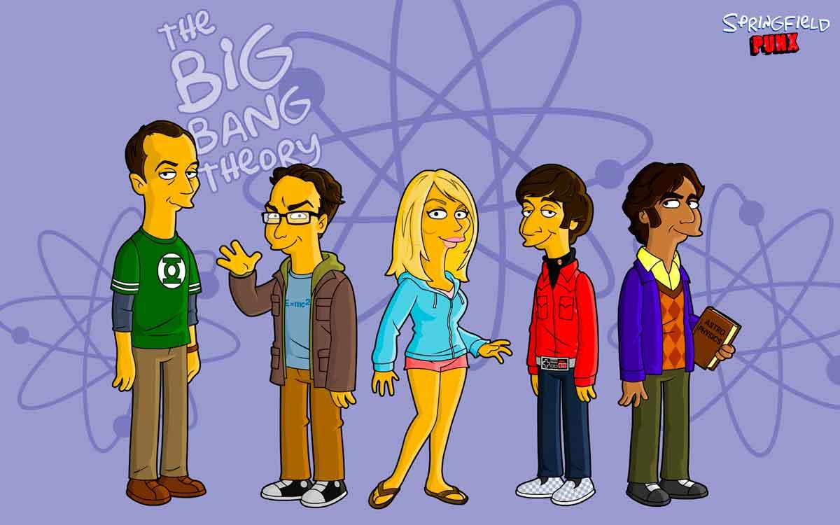 The Big Bang Theory Los Simpsons