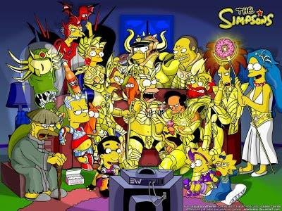 Los caballeros del zodiaco - The Simpsons