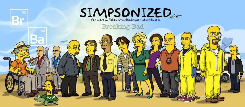 Breaking Bad Simpsonized