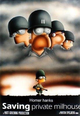 Salvar al soldado Ryan The Simpson
