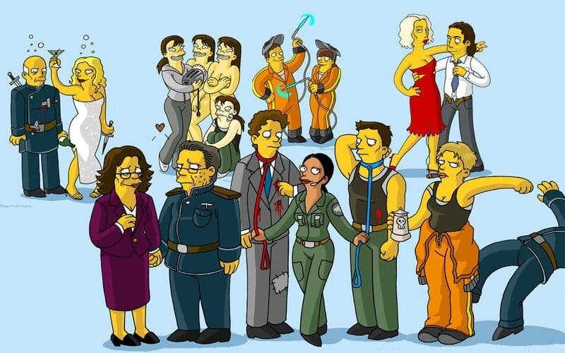 galactica simpsons