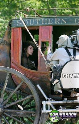 Megan Fox en el rodaje de Jonah Hex
