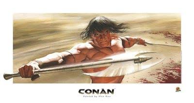 Conan litografía de Alex Ross