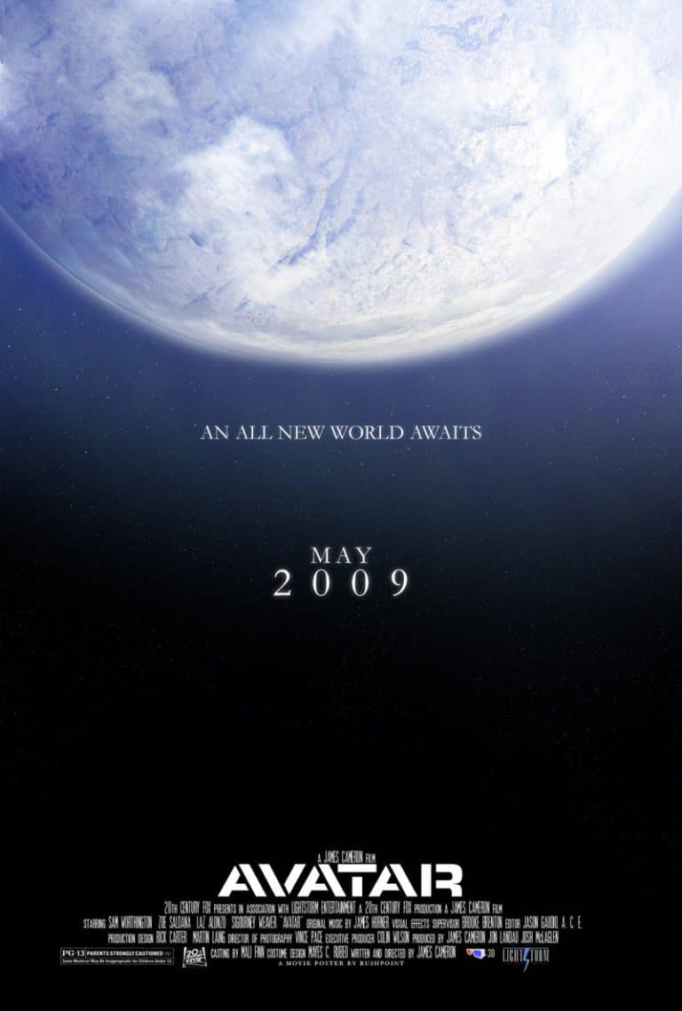 primer poster de Avatar de James Cameron