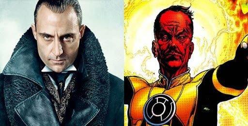Marlk Strong será Sinestro en Green Lantern