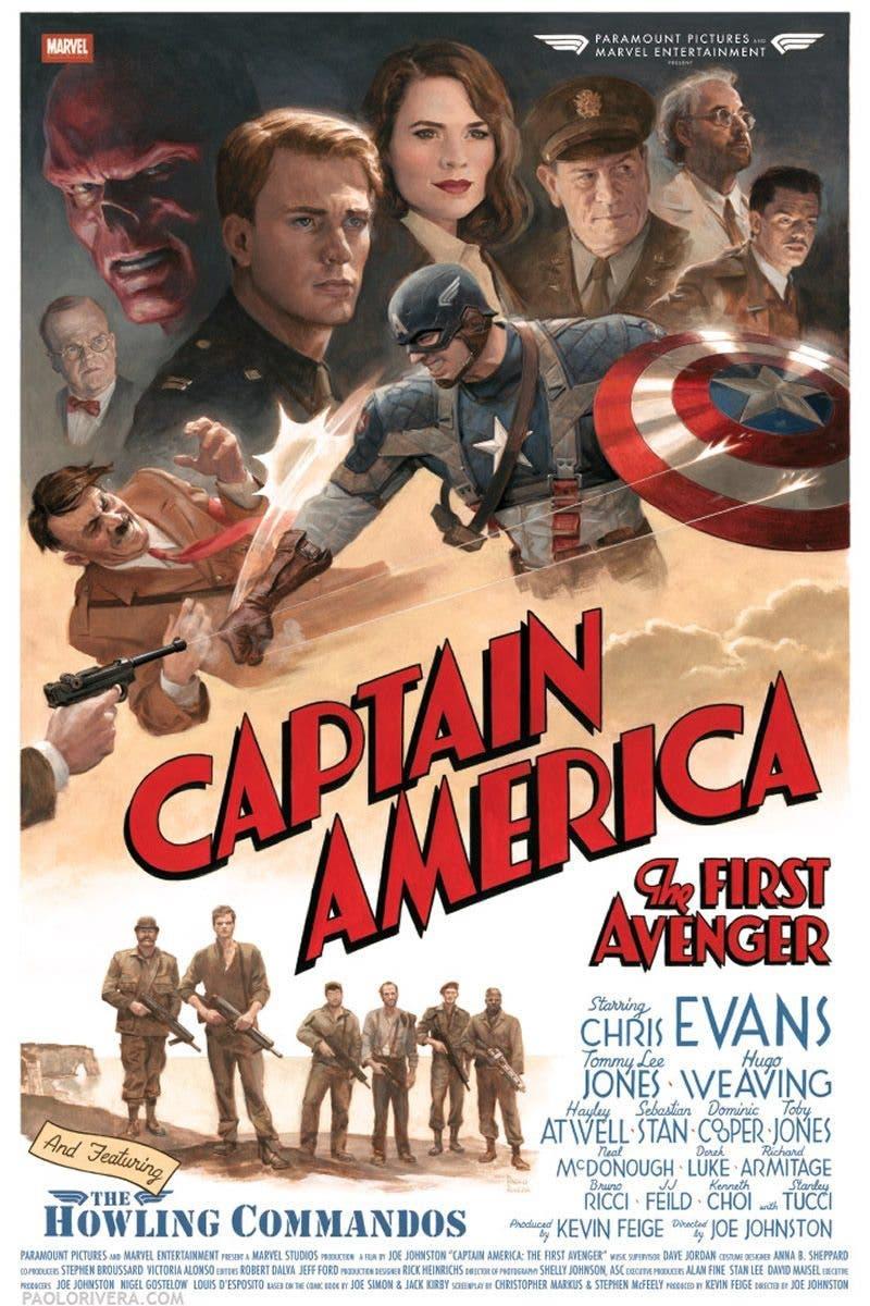 capitan america: el primer vengador póster retro