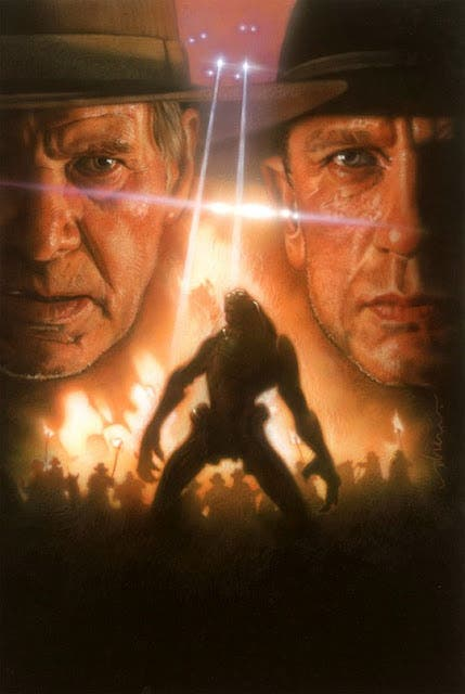 Cowboys and Aliens poster de Drew Struzan