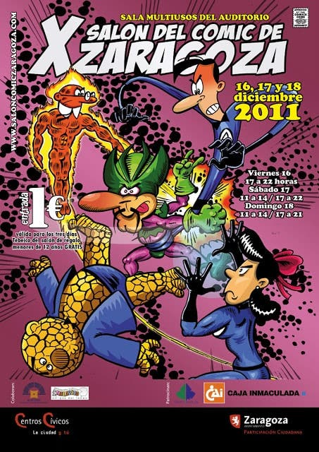 póster salón del cómic de zaragoza 2011