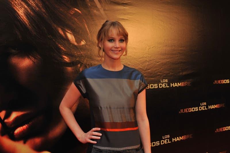 Jennifer Lawrence en su visita el pasado lunes a Madrid