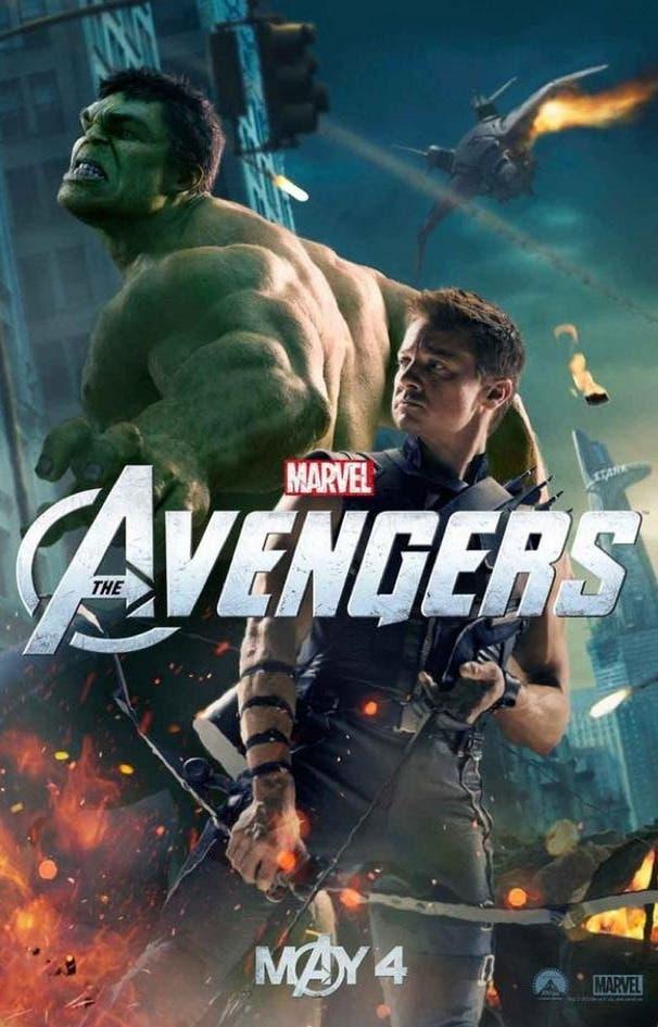 Hulk y Ojo de Halcón en el nuevo poster de Los Vengadores