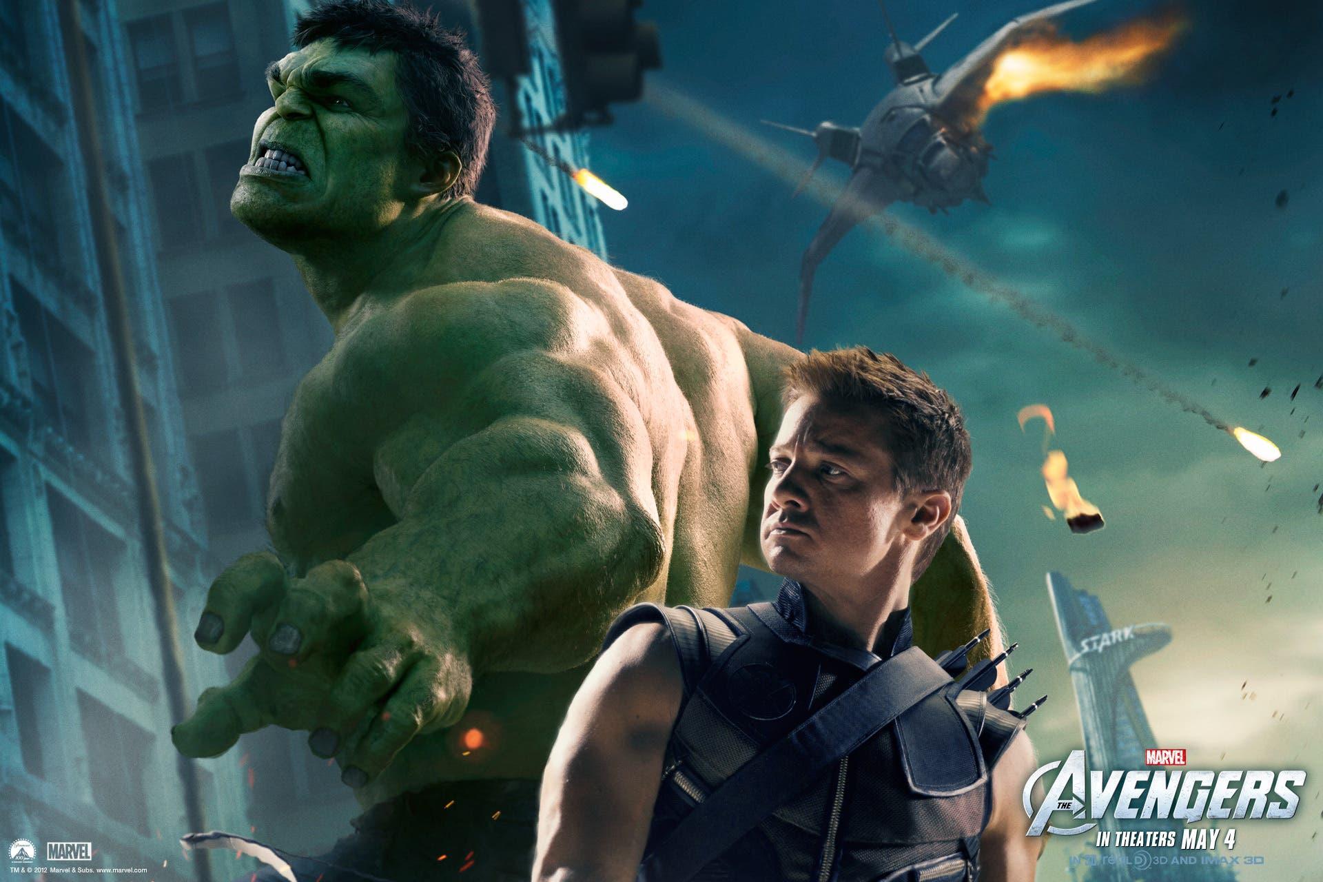 Jeremy Renner y Mark Ruffalo son Ojo de halcón y Hulk