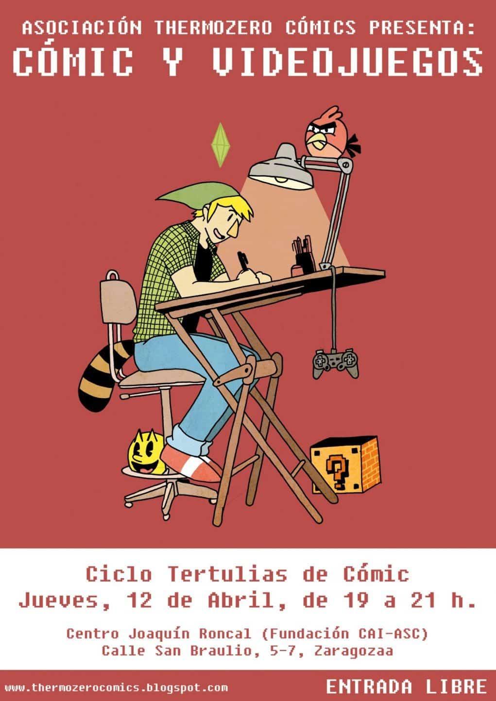 cartel tertulia comic y videojuego
