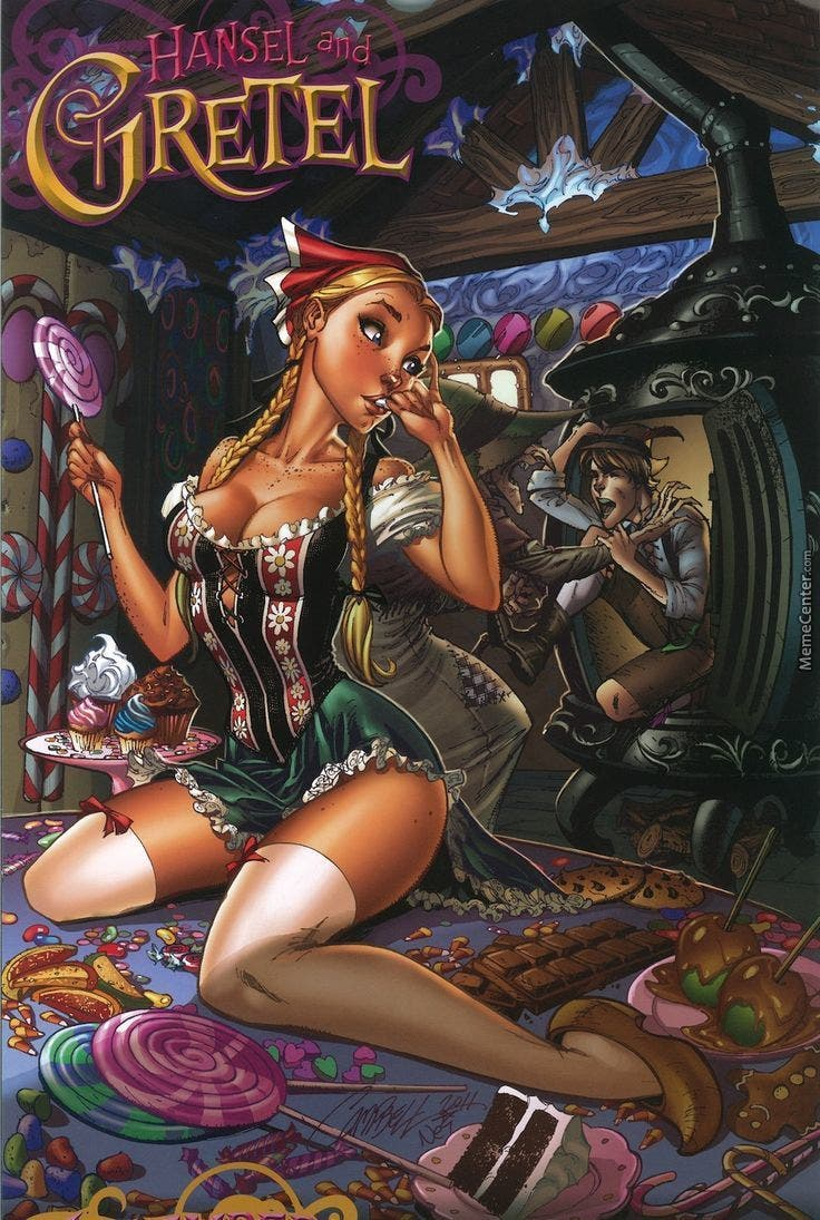 Hansel y Gretel. Princesas Disney J. Scott Campbell