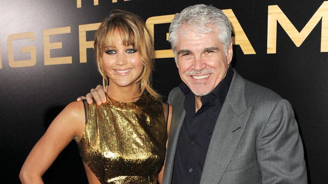 Jennifer Lawrence y Gary Ross