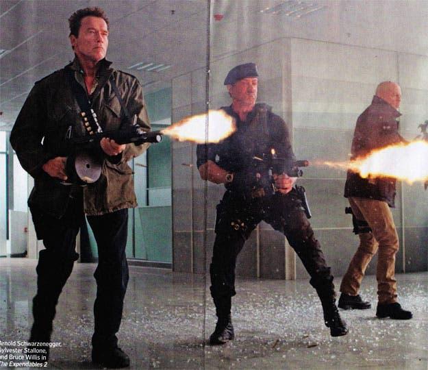 Nueva imagen de Schwarzenegger, Stallone y Bruce Willis