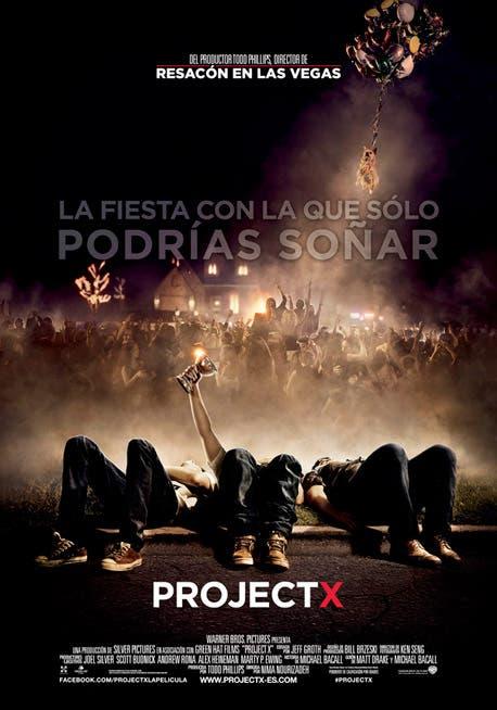 Cartel oficial de la comedia 'Project X'