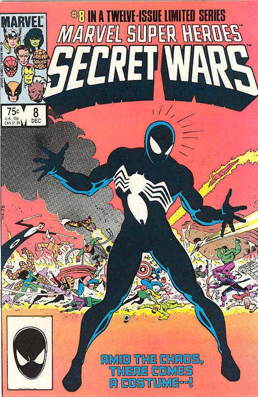 Secret Wars el origen del traje negro de Spider-man