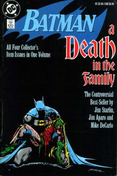 Portada de Batman a Death in the family (Una muerte en la familia)
