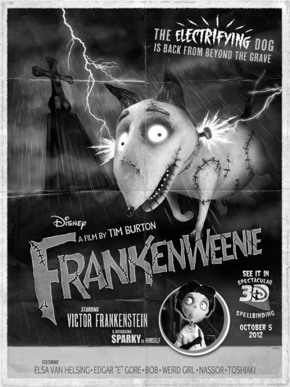 frankenweenie poster retro San Diego Comic Con