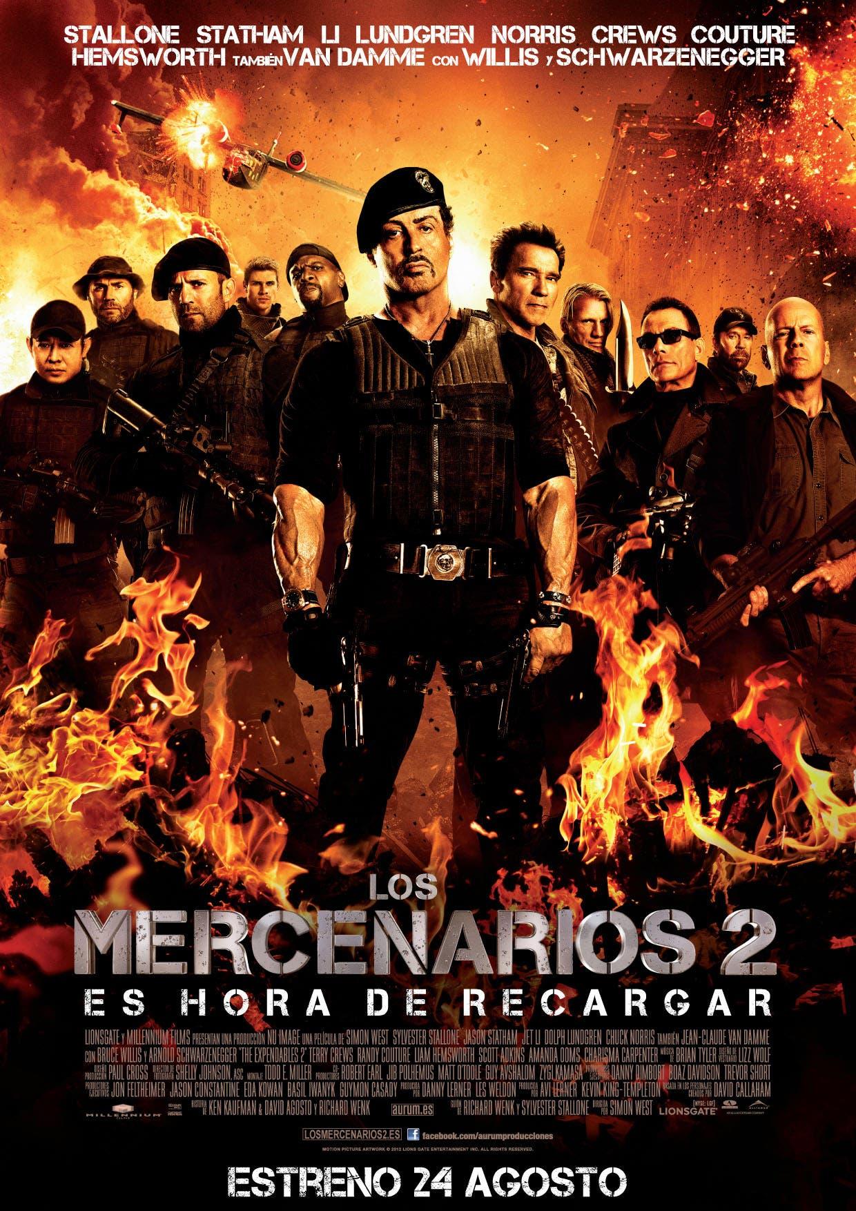 Póster de Los mercenarios 2