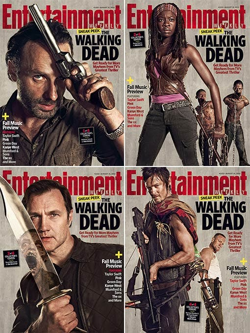 portadas The Walking Dead entertainment Weekly