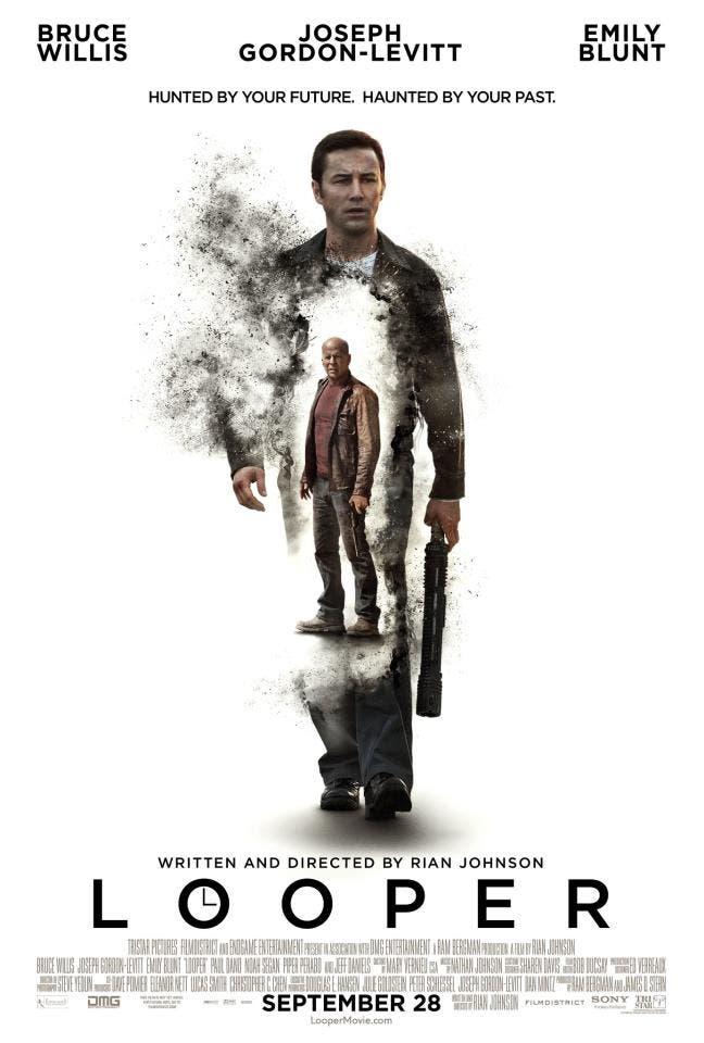 Nuevo poster de looper con Bruce Willis y Joseph Gordon-Levitt