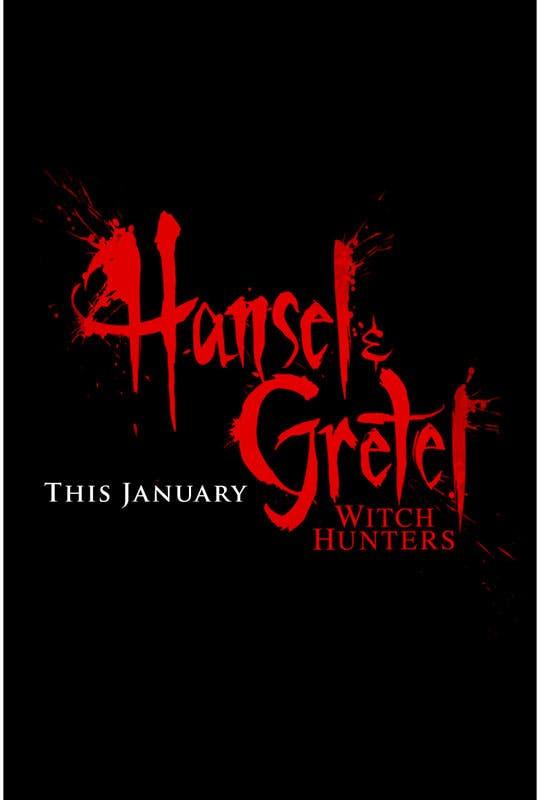Primer poster de Hansel y Gretel Cazadores de brujas