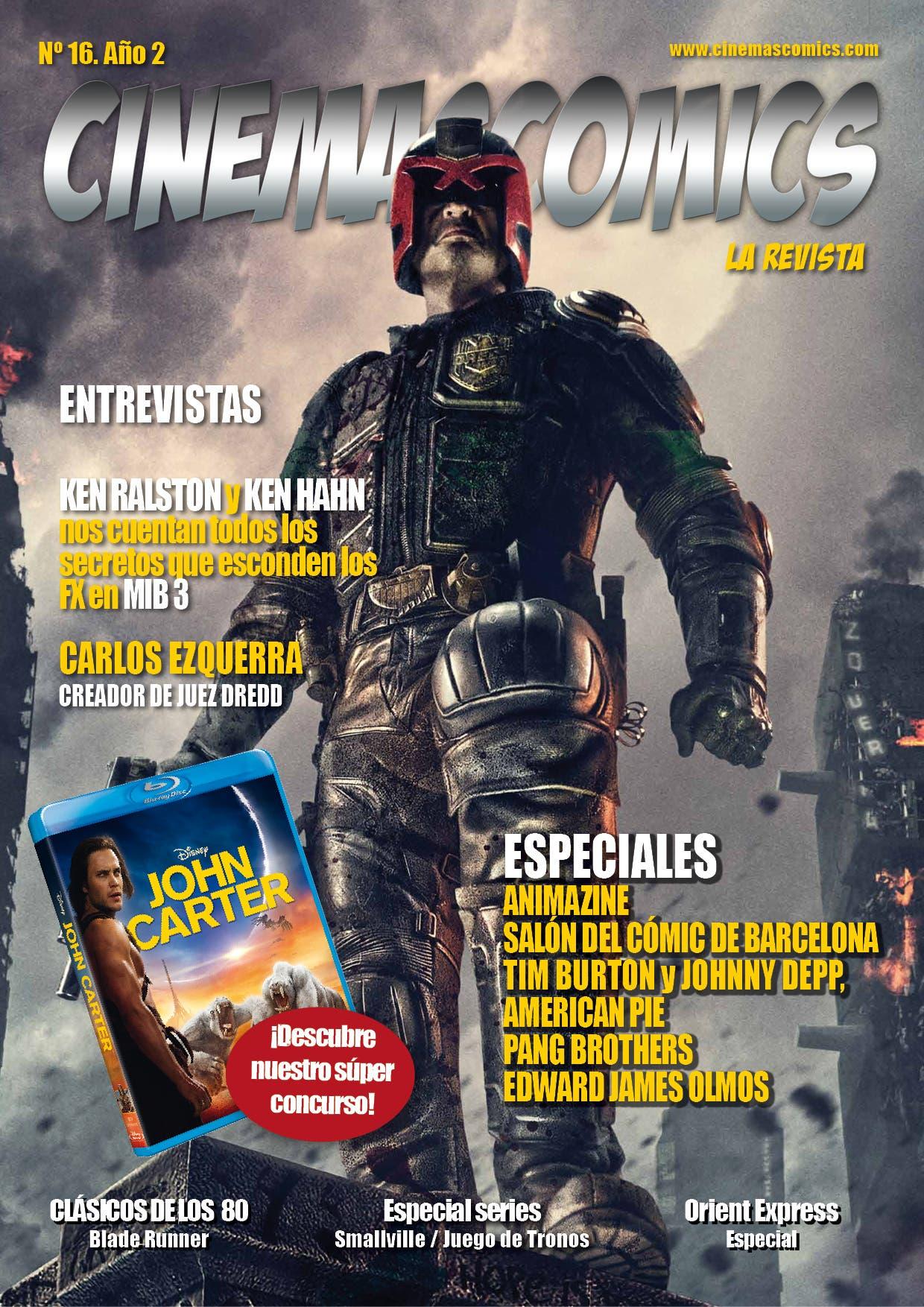 portada CINEMASCOMICS: LA REVISTA N16