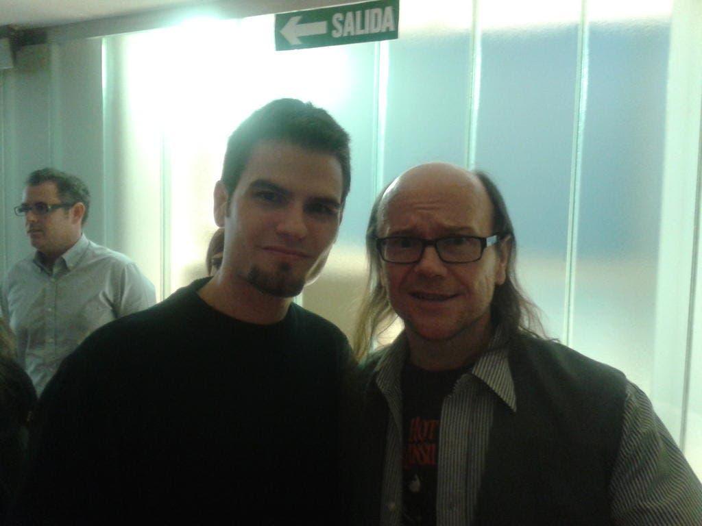 Eduardo Quintana junto a Santiago Segura