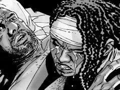 Michonne y Tyreese The Walking Dead