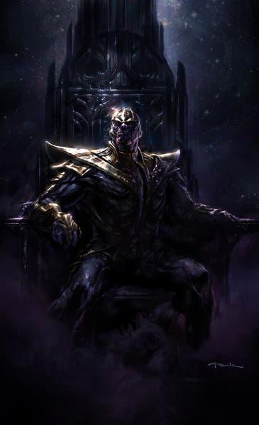Ilustración de Thanos por Andy Park