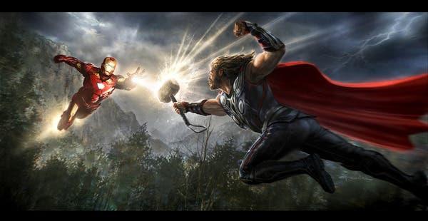Iron Man vs Thor en los Vengadores