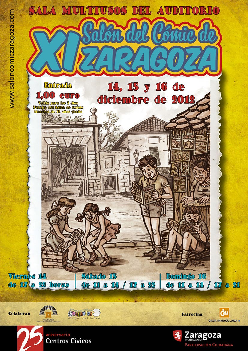 Cartel XI Salon del comic de Zaragoza