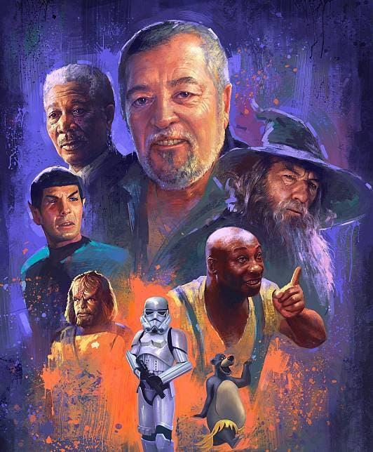 Ilustración de Pepe Mediavilla realizada por Marta Nael - Morgan Freeman, Gandalf
