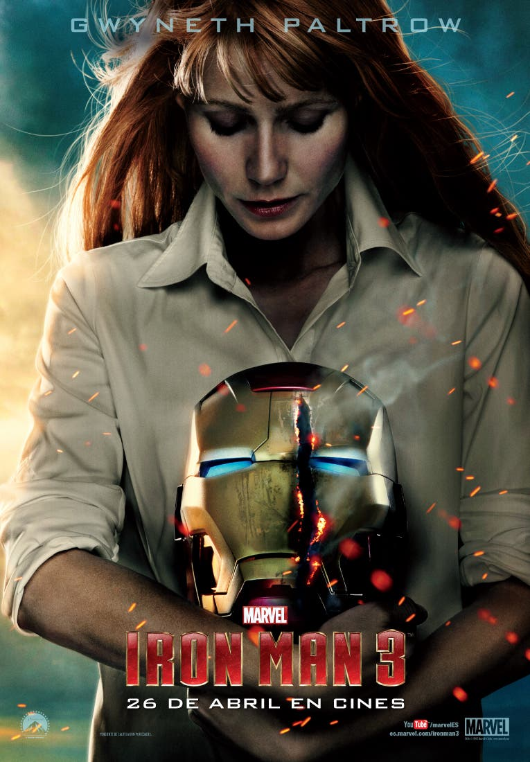GWYNETH PALTROW vuelve a Iron Man 3 en su papel de PEPPER POTS