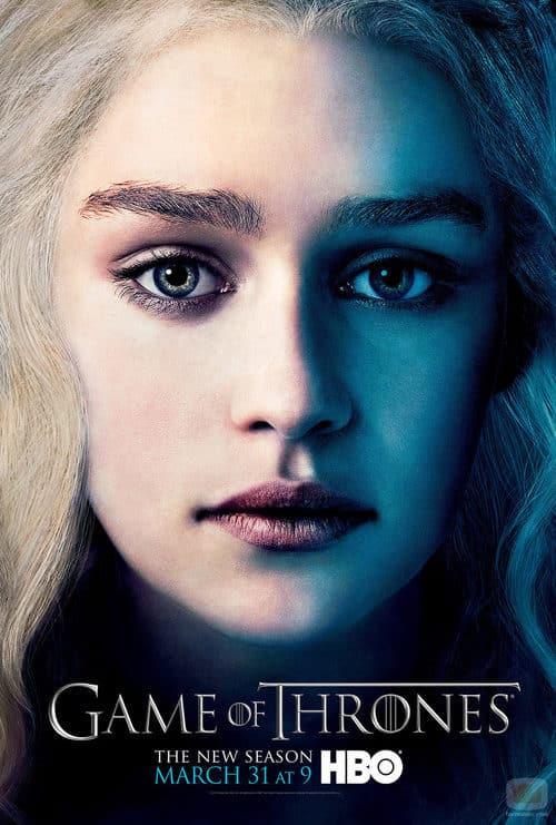 Daenerys Targaryen en el poster promocional de la tercera temporada de Juego de tronos