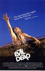 Cartel de 'Evil dead', de Sam Raimi