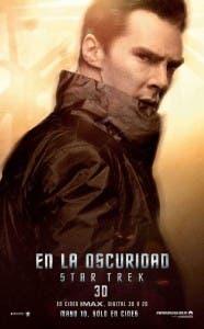 Poster de Benedict Cumberbatch en Star Trek en la oscuridad