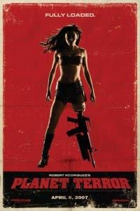 Cartel de 'Planet Terror' con el personaje de Rose McGowan