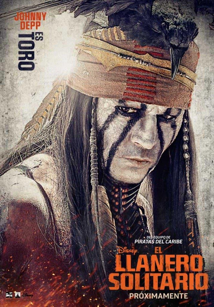 Johnny Depp interpreta a Toro en El llanero solitario
