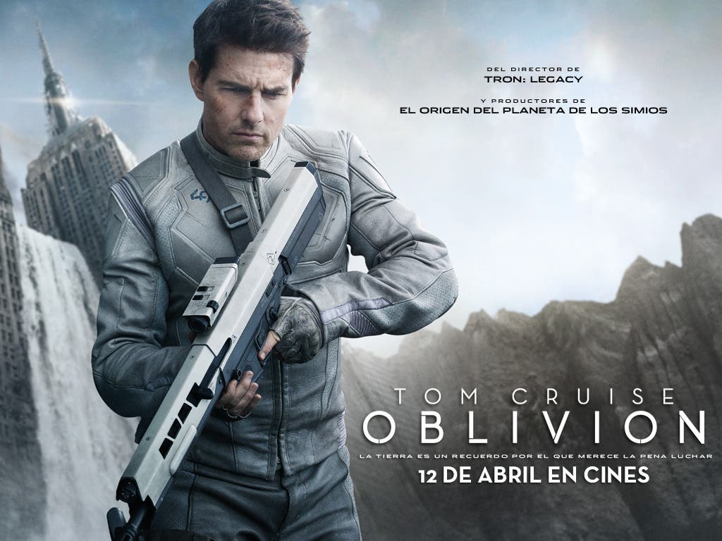 Wallpaper oficial de Oblivion, con Tom Cruise