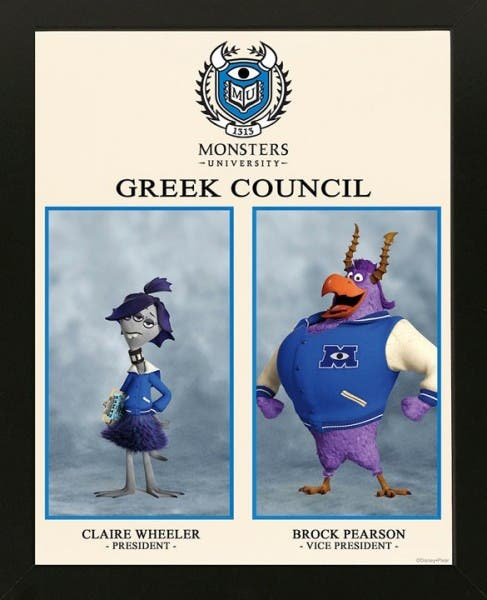 Monstruos University greek council