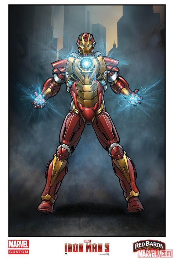 Mark 17 Heartbreaker por Andrea Di Vito para Iron Man 3