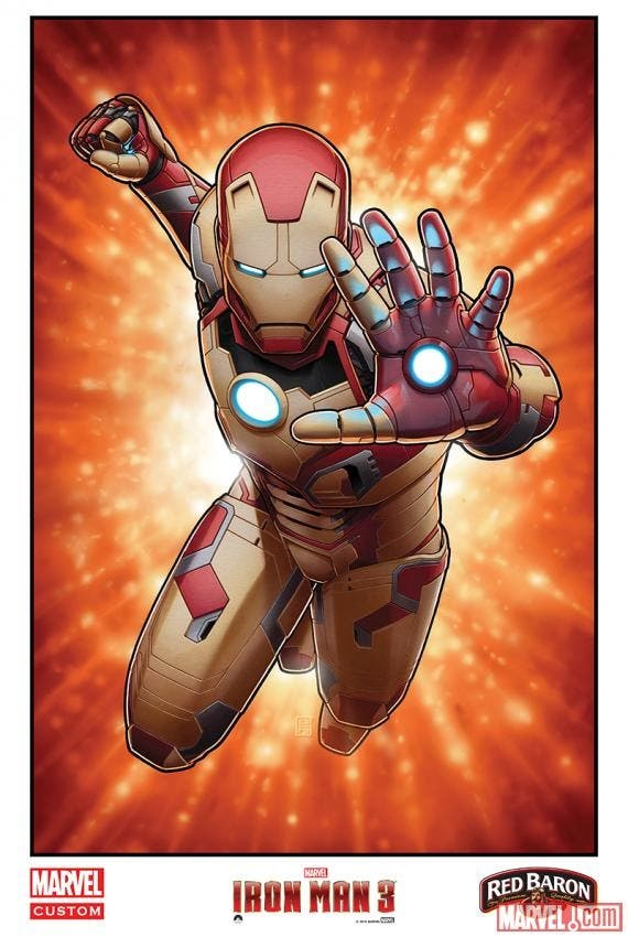 Mark 42 por John Tyler Christopher para Iron Man 3