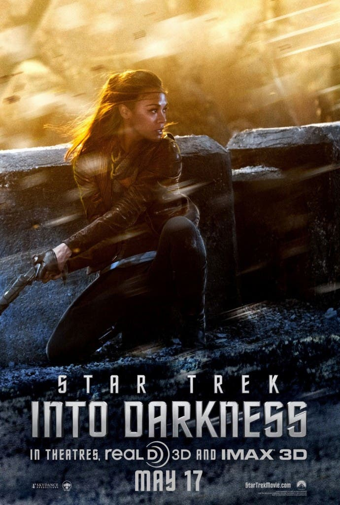 Poster de Zoe Saldana: Star Trek en la oscuridad
