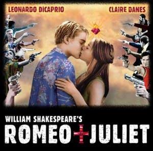 Cartel de 'Romeo y Julieta' con DiCaprio y Danes