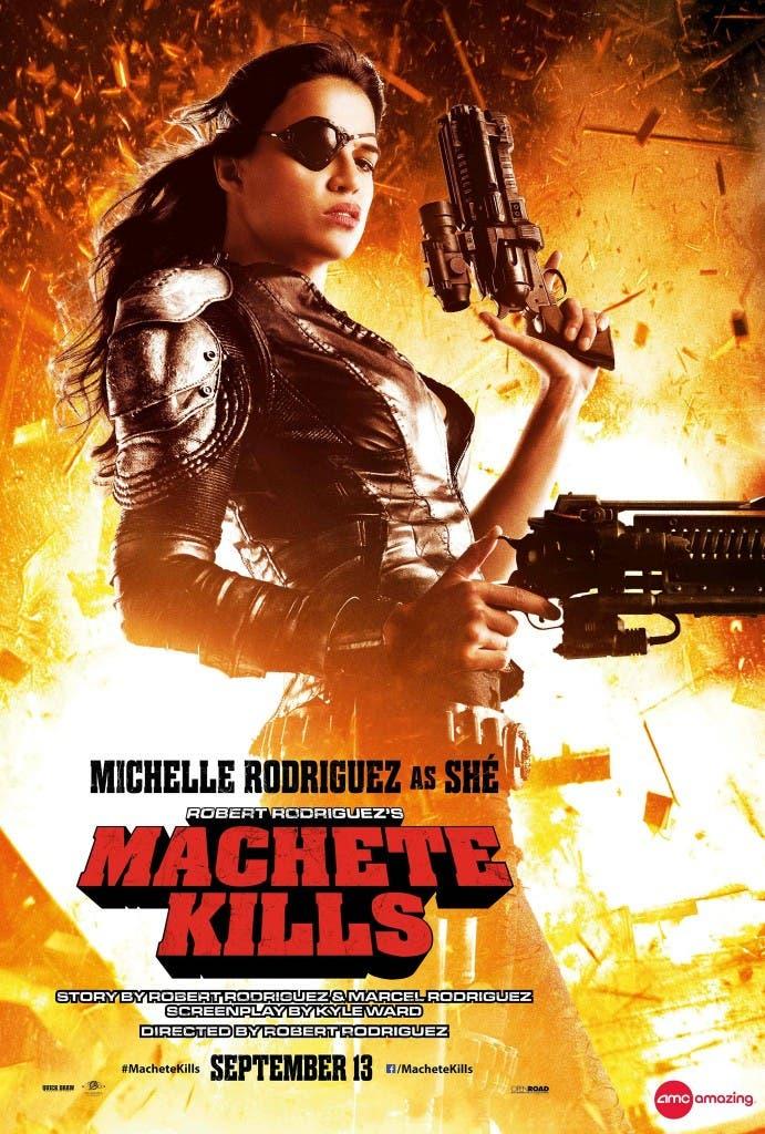 poster de Machete Kills con Michelle Rodriguez