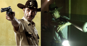Rick y Carl, padre e hijo en 'The Walking Dead'